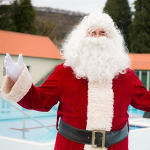Santa at the Lido boxing day